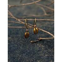 Short Golden Shell Earrings For Women