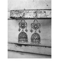 Handmade Floral Tribal Jewellery Jhumki Earrings