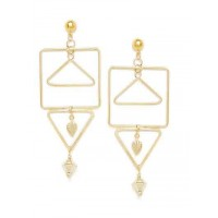 Geometrical Artificial Earrings in Gold Color
