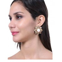 Shine Like Sun White Howlite Semi Precious Handmade Jewellery Earrings