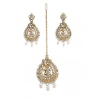 Golden Maang Tika Jewellery Set For Wedding