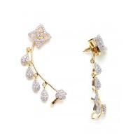 American Diamond Floral Earcuffs