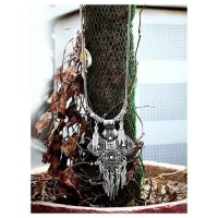 Peacock Embellished Oxidized Tribal Jewellery Fashion Necklace with Hanging Metallic Leaves