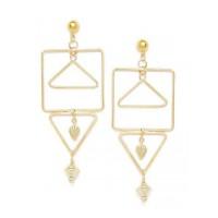 Combo Of 2 Golden Contemporary Earrings For Women