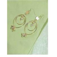 Layered Hoop Earrings in Gold Color
