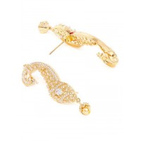 American Diamond Peacock Earcuffs