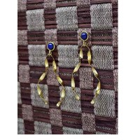 Lapis Lazuli Semi Precious Handmade Jewellery Earrings