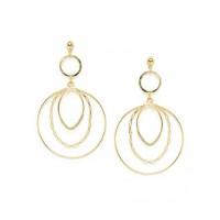 Combo of Two Golden Dangle Earrings For Women