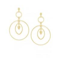 Combo of Two Golden Geometrical Earrings