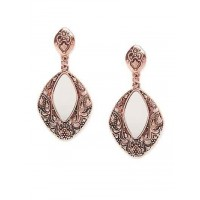 Vintage Rose Gold Mirror Dangler Earrings