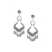 Oxidized Silver Chandelier Dangler Earrings
