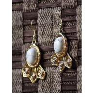 White Howlite Semi Precious Handmade Jewellery Earrings