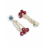 Long White Pearl Earrings For Women