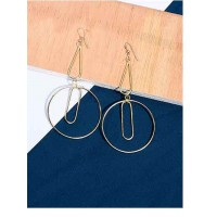 Classic Layered Hoop Earrings in Gold Color
