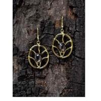 Smoky Faceted Semi Precious Handmade Jewellery Earrings