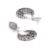 Oxidized Silver Vintage Dangler Earrings
