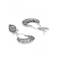 Lightweight Oxidized Silver Dangler Earrings