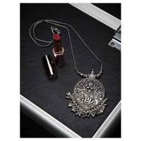 Deity Oxidized Silver Necklace For Women