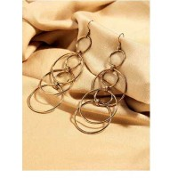 Multi-layered Contemporary Gold Plated Hoops Western Earrings