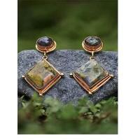 Riolite and Labrodorite Semi Precious Handmade Jewellery Earrings