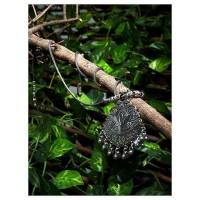 Everything Pretty Motifs Oxidized Tribal Jewellery Statement Necklace