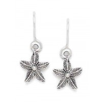 Silver Starfish Oxidized Earrings