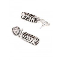 Oxidized Silver Dangler Earrings