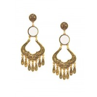 Golden Mirror Dangler Earrings
