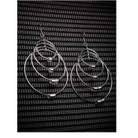 Multi swirled Hoops Silver Plated Designer Western Earrings
