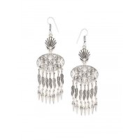 Leafy Oxidized Silver Earrings
