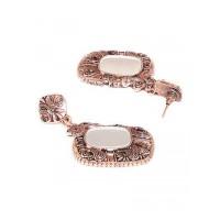Rose Gold Mirror Dangler Earrings