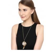 Tiger Eye Brass Pendant Chain Fashion Necklace