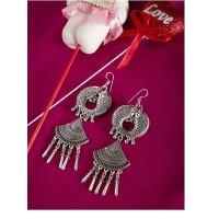 Fish Oxidized Silver Earrings For Women