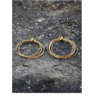 Multiple circular hoops Gold Plated Designer Western Earrings