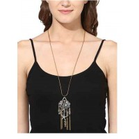 Silver Tassels and Stars Fashion Necklace