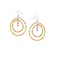 Multicolored Beaded Western Handmade Earrings