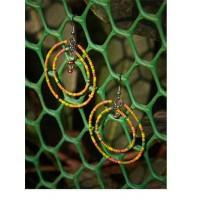 Multicolored Beaded Western Handmade Earrings