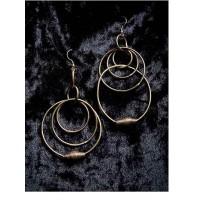 Multi Circular Layers Gold Plated Designer Hoops Western Earrings