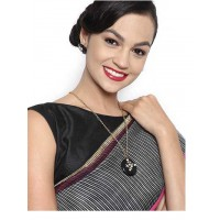 Graceful Black Stone Designer Fashion Necklace Set