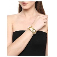 Pearl Brass Handmade Jewellery Cuff