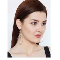 Swirled Silver Plated Hoops Western Earrings
