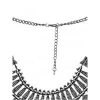 Vintage Silver Coin Fringe Bib Fashion Necklace