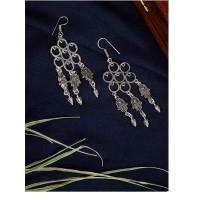 Oxidized Silver Hand Earrings