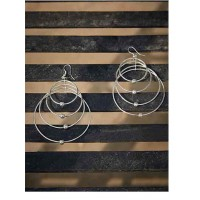 Layered Hoops Silver Plated Designer Western Earrings