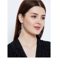 Artisan Silver Plated Designer Western Earrings