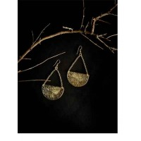Golden Disc Western Handmade Earrings