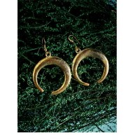 Golden Crescent Western Handmade Earrings
