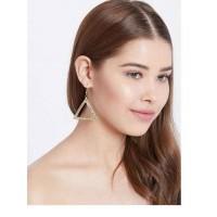Triangular Golden Western Handmade Earrings