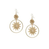 Hanging star Gold Plated Designer Western Earrings