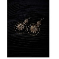 Hanging star Gold Plated Designer Western Earrings
